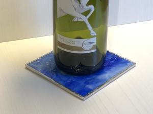 Bottle Coaster blue