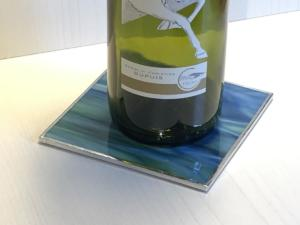 Bottle Coaster green blue 2