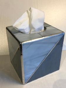 Tissue box grey